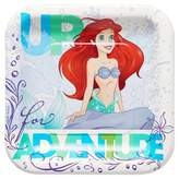 Disney 8ct The Little Mermaid Ariel Square Disposable Plates