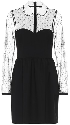 RED Valentino polka-dot tulle and crepe dress