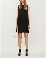 Theory Column sleeveless crepe mini dress