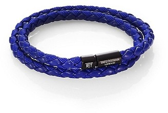 Tateossian Woven Leather Bracelet
