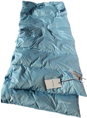Balenciaga Turquoise Polyester Scarves