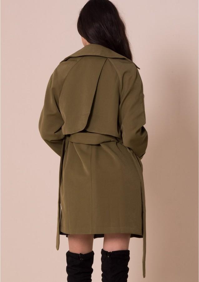 Missy Empire Alessa Khaki Trench Coat
