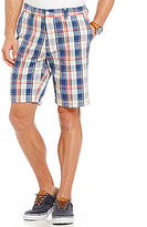 Nautica Slim Fit Plaid Flat Front Shorts