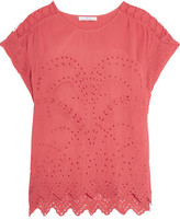 IRO Fiore Broderie Anglaise Voile Top