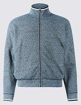 Pure Cotton Textured Fleece Jacket