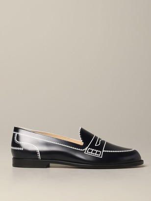 Christian Louboutin Loafer In Printed Leather