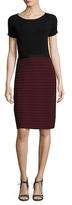 Oscar de la Renta Wool Stitched Skirt Sheath Dress