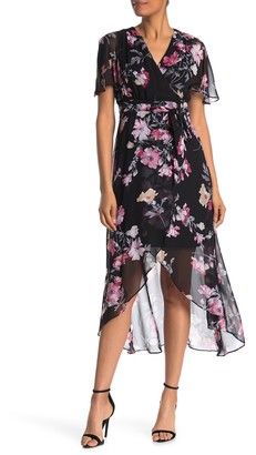 Eliza J High/Low Floral Print Dress