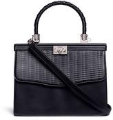 Rodo Braided handle basketweave effect leather bag