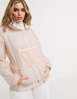 Columbia Berg Lake anorak jacket in peach
