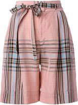 Philosophy Di Lorenzo Serafini - checked shorts - women - Rayon - 40