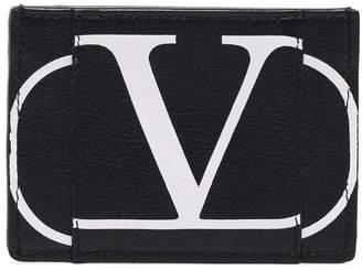Valentino garavani logo print cardholder