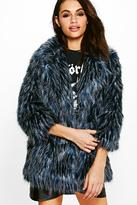 boohoo Lois Shaggy Faux Fur Coat