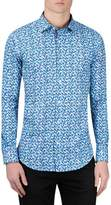 Bugatchi Men's Classic Fit Fish Print Sport Shirt
