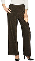 Joan Rivers Classics Collection As Is Joan Rivers Regular Length Shimmering Knit Pull-On Pants