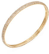 Maiyet 18K Yellow Gold & 5.50 Total Ct. Champagne Diamond Triple Row Oval Bangle Bracelet
