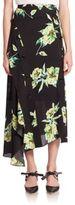 Proenza Schouler Asymmetrical Floral Skirt