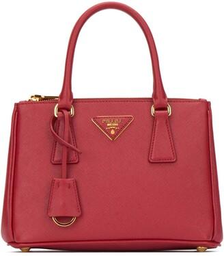 Prada Mini Galleria Logo Tote Bag
