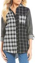 Westbound Petites One-Pocket Boyfriend Shirt