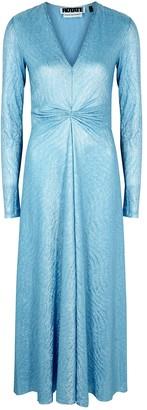Rotate by Birger Christensen Sierra foil-print jersey midi dress