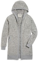 Ppla Girls' Marled Knit Hooded Duster - Sizes S-L