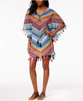 Miraclesuit Casbah Cotton Printed Tassel Caftan Cover-Up
