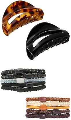 L. Erickson The Essential Hair Clip & Pony Tube Set