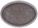 beltiscool Plain Oval Pewter Belt Buckle
