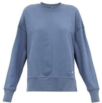 adidas by Stella McCartney Zip-vent Sleeves Cotton Sweatshirt - Womens - Blue