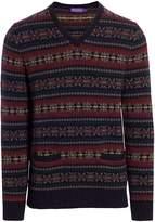 Ralph Lauren Purple Label Fair Isle Wool Sweater