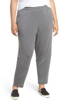 Eileen Fisher Tapered Stretch Fleece Knit Pants (Plus Size)