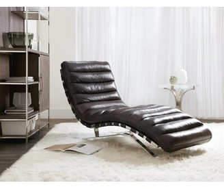 Hooker Furniture Caddock Leather Chaise Lounge