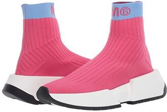 MM6 MAISON MARGIELA Contrast Logo Sock Sneaker (Beetroot Purple/Alaskan Blue) Women's Shoes