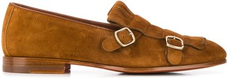 Santoni double buckled loafers