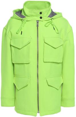Alice + Olivia Russo Neon Gabardine Hooded Jacket