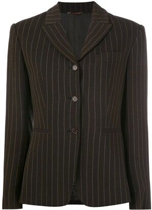 Romeo Gigli Pre-Owned Pinstriped Blazer