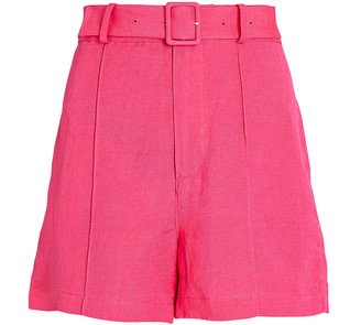 Solid & Striped Tailored Linen-Blend Shorts