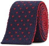 Lardini Two-tone Knitted Wool Tie