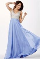 Jovani Elegant Prom Dress in Illusion Straps JVN20437