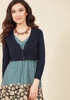 ModCloth The Dream of the Crop Cardigan in Navy in 1X