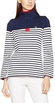 Crew Clothing Women's 1/2 Button Sweatshirt,12