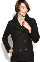Kenneth Cole Reaction Coat, Double-Breasted Wool-Blend Pea Coat
