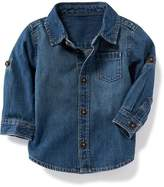 Old Navy Denim Roll-Sleeve Shirt for Baby
