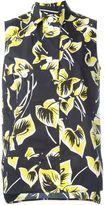 Marni sleeveless floral print blouse
