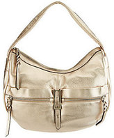 B. Makowsky Metropolitan Leather Zip Top Slouchy Hobo