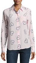 Equipment Brett Long-Sleeve Shirt, Pink