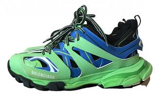 Balenciaga Track Green Leather Trainers