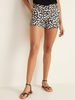 Old Navy Mid-Rise Leopard-Print Everyday Shorts for Women -- 3.5-inch inseam