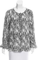 L'Agence Lace Printed Silk Top