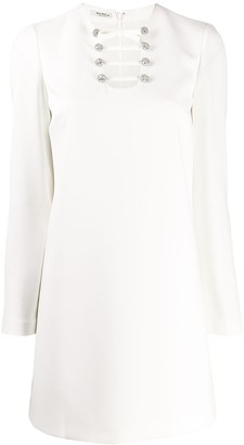 Miu Miu Cut-Out Detail Shift Dress
